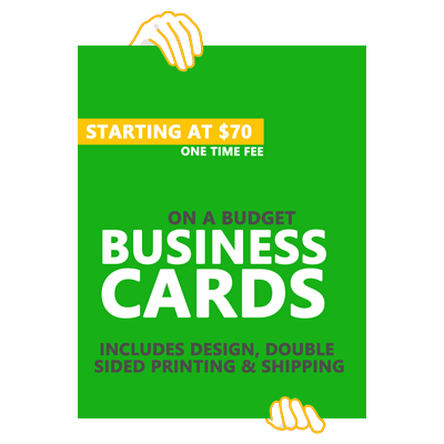 Affordable small business marketing, website design, printing, branding, business cards, flyers